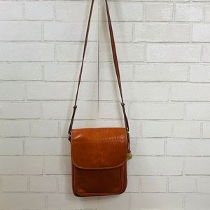 Vintage Brahmin Crossbody Flap Bag Smooth Leather